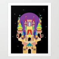 castle Art Prints featuring castle  by crayon dreamer