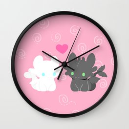 TOOTHLESS AND HIS GIRLFRIEND Wall Clock