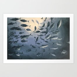 School of Fish 2 Art Print
