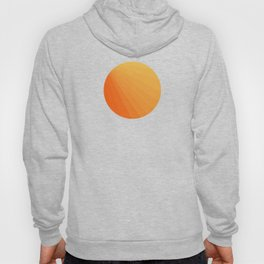 Shades of Sun - Line Gradient Pattern between Light Orange and Pale Orange Hoody