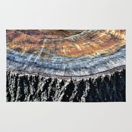 Tree Stump Circle Texture Rug