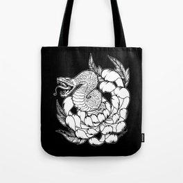 Snake Chrysanthemum Tote Bag