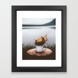 Splash of Coffee Framed Art Print