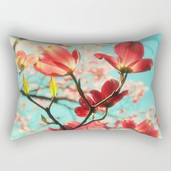 Spring dogwood blossoms Rectangular Pillow