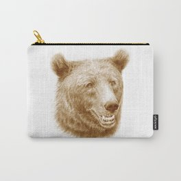 Brown bear is happy Carry-All Pouch
