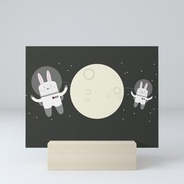 Astro Bunnies Mini Art Print
