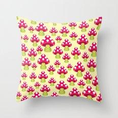 Honguitos Throw Pillow
