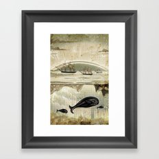 paper II :: whales/ships Framed Art Print
