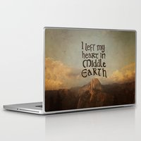 lotr Laptop & iPad Skins featuring I Left My Heart in Middle Earth by Leah Flores