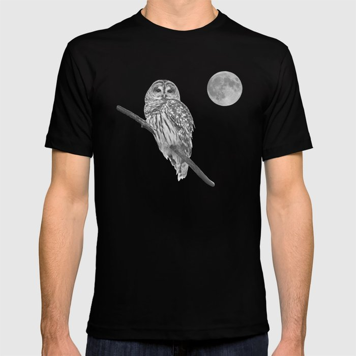 Owl, See the Moon (bw) T-shirt