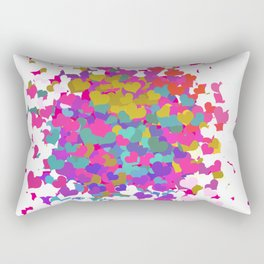 Heart leaf colorful Rectangular Pillow