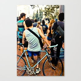 Oregon Biker Canvas Print