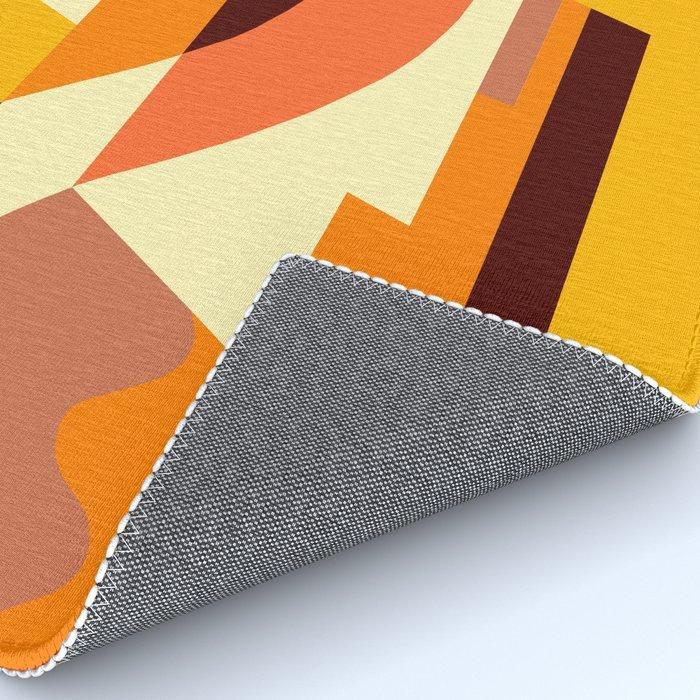 SUISSE - Art Deco Modern: AUTUMN ORANGE Rug