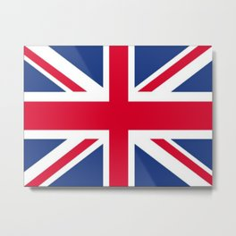Union Jack 🇬🇧 Flag Of The United Kingdom ♚ Metal Print