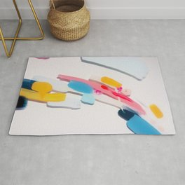 Even After All  #3 - Abstract on perspex by Jen Sievers Rug