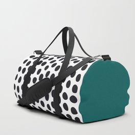 """Elegant Handpainted Polka Dots with """"Shaded Spruce"""", Fall, Autumn Color Duffle Bag"""