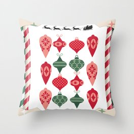 Framed Ornaments Throw Pillow