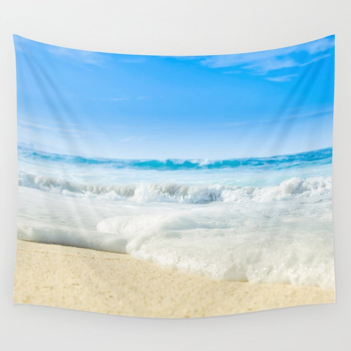 Beach Love Summer Sanctuary Wall Tapestry