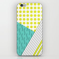 LIME LINES AND DOTS iPhone Skin