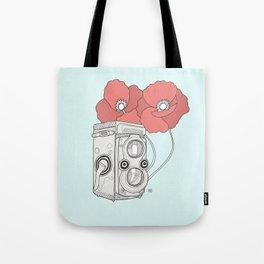 poppy twin lens Tote Bag
