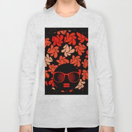 Afro Diva : Coral Red Long Sleeve T-shirt