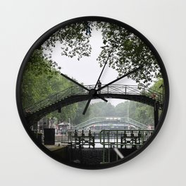 Paris Canals Wall Clock