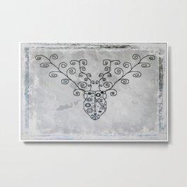 Antler Art Metal Print