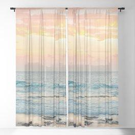 Honolulu Sunrise Sheer Curtain