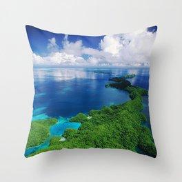 WOW!!! PALAU!! Tropical Island Hideaway Throw Pillow