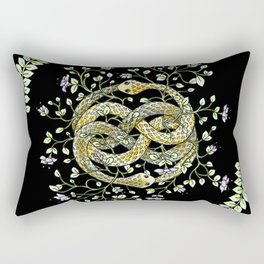 Neverending Story Inspired Auryn Garden in Black Rectangular Pillow