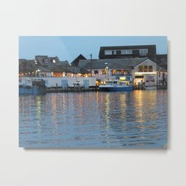 Looe Harbour, Cornwall Metal Print