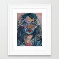 mike wrobel Framed Art Prints featuring mike by Jordan Piantedosi