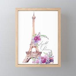 Eiffel Tower Vintage Paris France Framed Mini Art Print