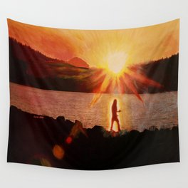 Peaceful Warrior  Wall Tapestry