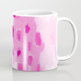 Zimta - pink abstract painting dots mark making canvas art decor Coffee Mug