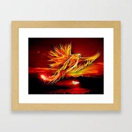 Phoenix Bird Fire Framed Art Print