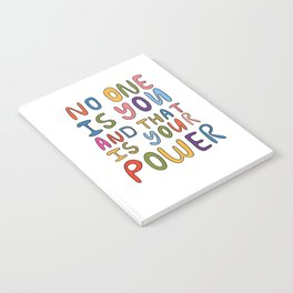 No One Is you And That Is Your Power Notebook