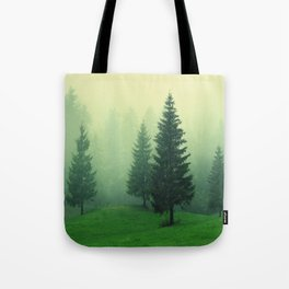 evergreen forest Tote Bag