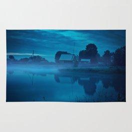 Contryside blue morning Rug