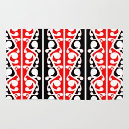 Maori Kowhaiwhai Traditional Pattern Rug