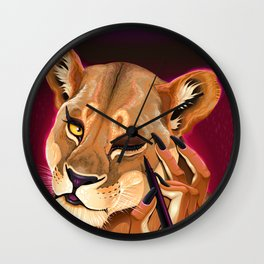 Genetic eyeliner Wall Clock
