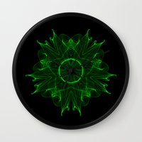 wicked Wall Clocks featuring Wicked by Mr. Pattern Man
