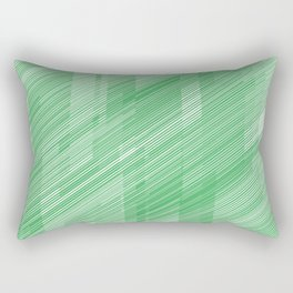 The Green Hash - Geometric Pattern Rectangular Pillow