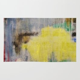 Subliminal Grey. Grey, Rain, Water, Car, Abstract, Blue, Jodilynpaintings Rug