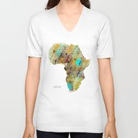 africa V-neck T-shirts featuring Africa by bri.buckley