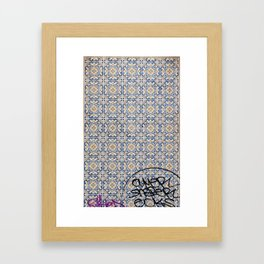lisbon mosaic Framed Art Print