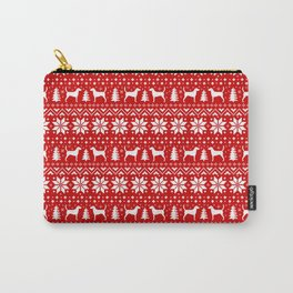 Harrier Silhouettes Christmas Sweater Pattern Carry-All Pouch