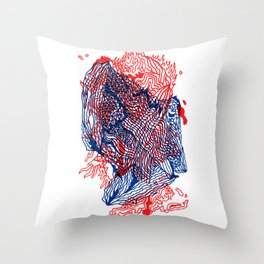 Seismic activity Throw Pillow