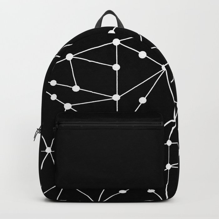 Abstract black and white pattern. Mesh . Backpack