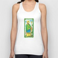patrick Tank Tops featuring Saint Patrick by TheCore